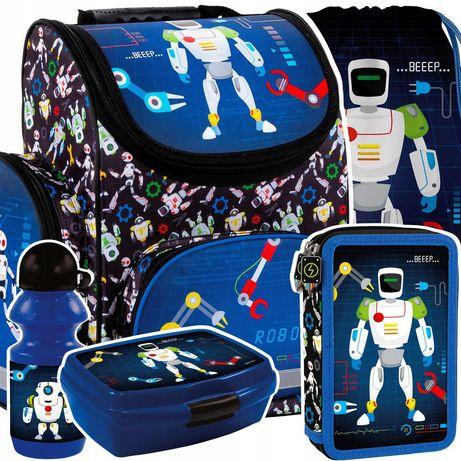 Школьный рюкзак, комплект для мальчика DERFORM Робот, 1-3 класс!
