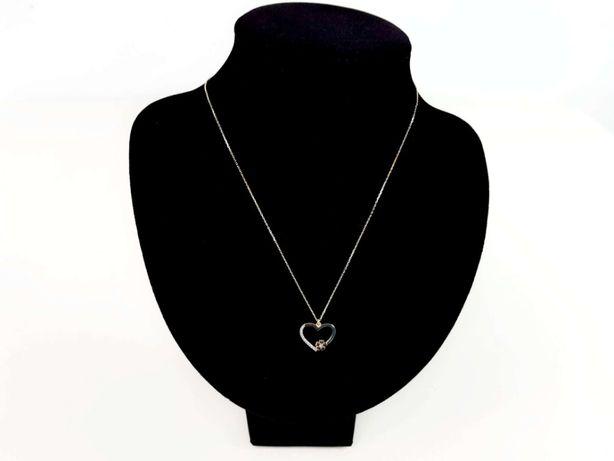 Złoty łańcuszek z zawieszką serce P585 1,87G