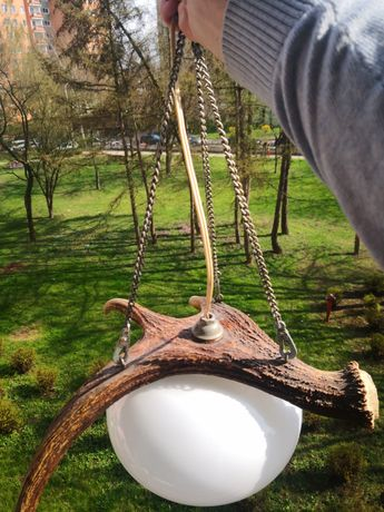 Lampa róg jelenia - Myśliwska