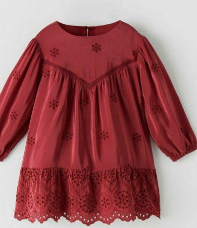 Sukienka Zara 98 bordo