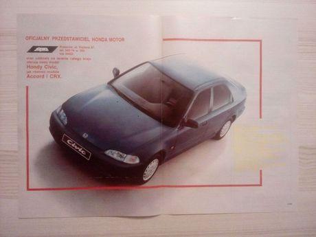 Plakat Poster Honda Civic 5D V gen 33,5cm x 47cm Cars JDM Reklama PL