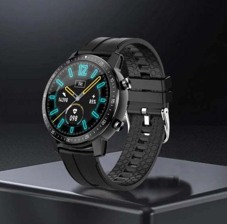 Zegarek Smartwatch z Monitorem SNU i Tętna, Wodoodporny, model 2021