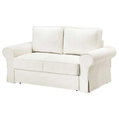 Nowe białe pokrycie BACKABRO sofy 2os. rozkł Ikea 603.233.99 pokrowiec