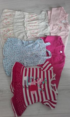 Komplet ubranek, sukienka, rampers, rozmiar 92
