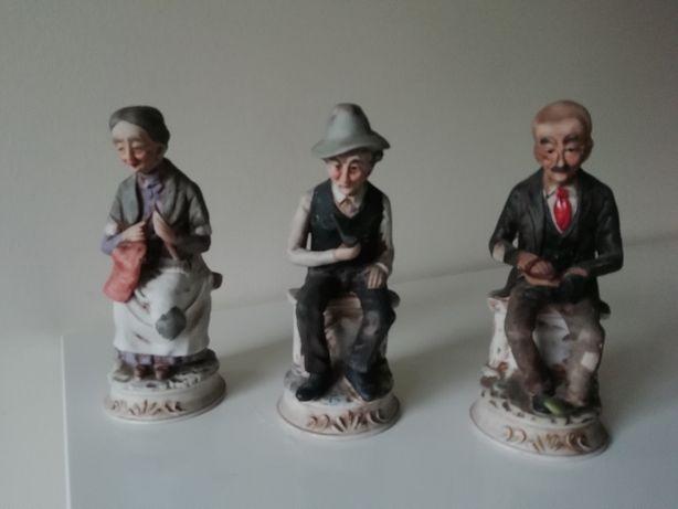 Estatuetas - 3 velhinhos chineses
