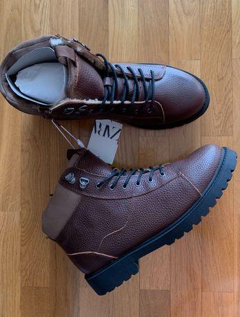 Шкіряні ботинки Zara Kids