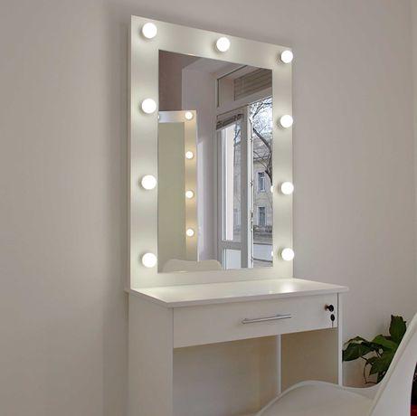 Зеркало для макияжа с подстветкой гримерный столик
