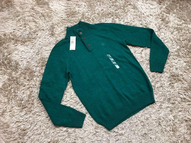 Timberland S oryginalny męski nowy sweter zielony hit guziki
