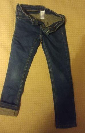 Ocieplane dziewczęce spodnie jeansowe C&A