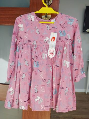 Sukienka nowa z metką różowa 92 98