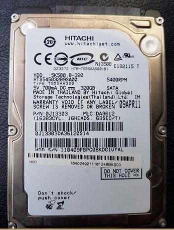 Disco Sata Hitachi 320Gb como novo