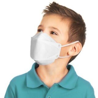 Máscaras para criança certificadas de tamanho reduzido. (2-12 anos)