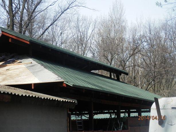 Ремонт крыш,ремонт гаражей ,кровля еврорубероидом
