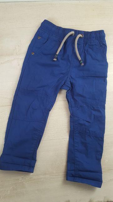 Spodnie materialowe niebieskie Tu r 86