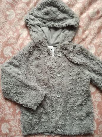Bluza płaszczyk palomino 116 szary mis kaptur