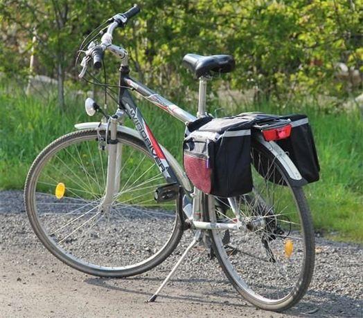 Duża Podwójna Sakwa na Rower torba rowerowa na bagażnik na ramę