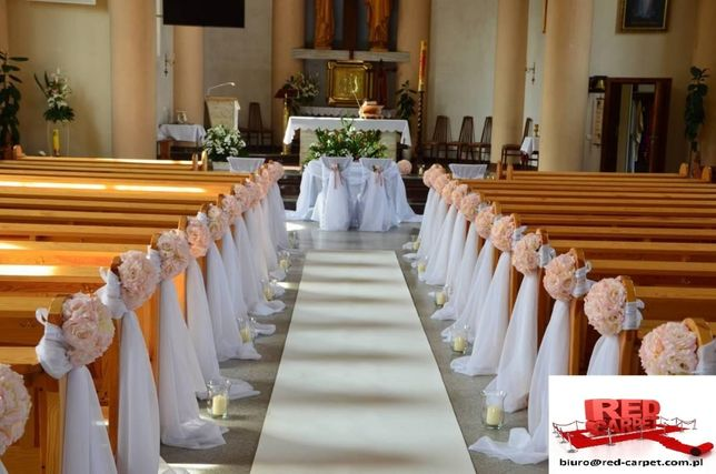 Biały dywan na ślub, chodnik, . ,Premium welur