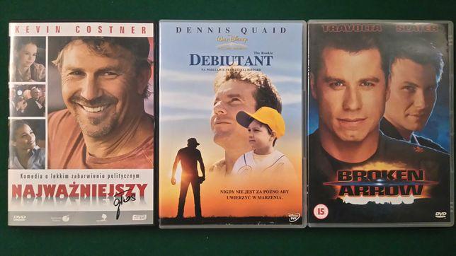 Zestaw filmów DVD sensacyjne, sf, fabularne