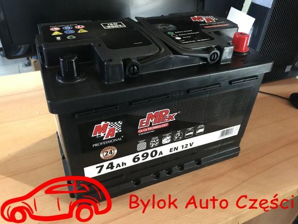 """AKUMULATOR 74AH/690A """"Moje Auto"""" NOWY!!! Prawy+ Bylok Gliwice"""