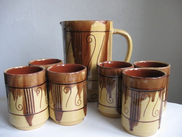 Komplet fajans . ceramika