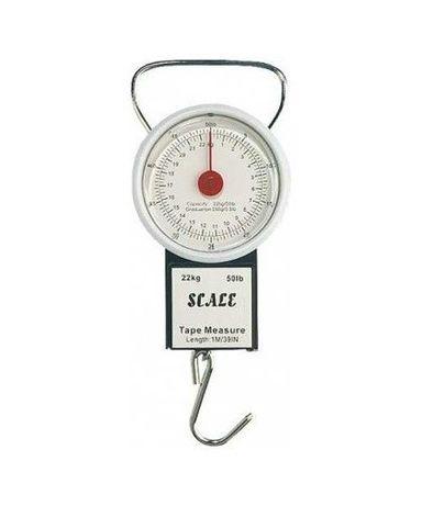 Hakowa waga wędkarska Rumpol do 22kg z wysuwaną metrówką