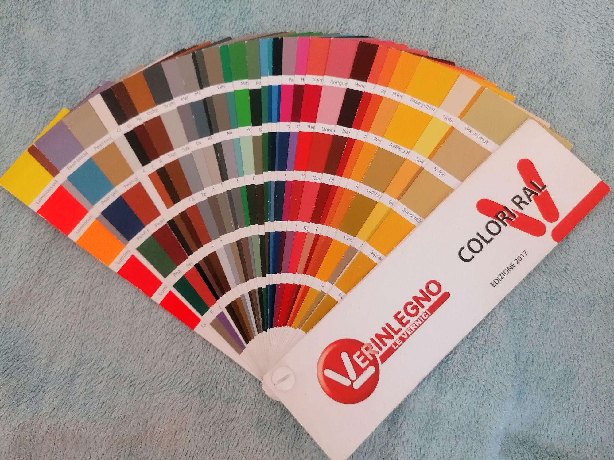 Wzornik próbnik kolorów ral