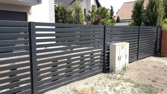 Nowoczesne ogrodzenia, palisadowe, bramy, furtki, automaty, ocynk