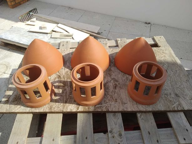 Chaminés e tampa de chaminé diametro 150mm para telhado alvenaria