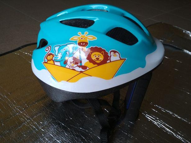 Kask rowerowy dla dziecka BTWIN 46-53 cm.