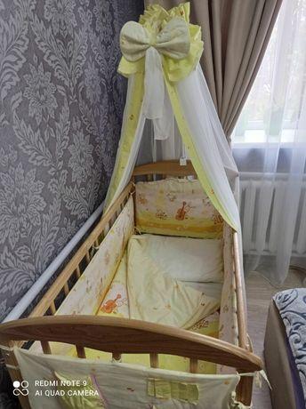Детская кроватка, матрас, защита+подарок.