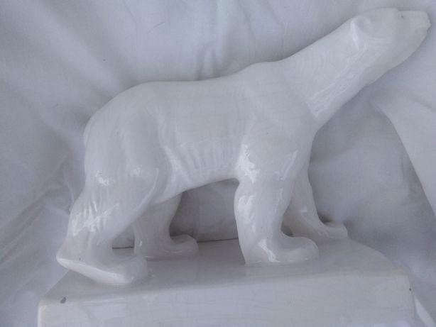 """Kultowa figura """"niedźwiedź polarny"""" – Czeladź Józefów – sygnowany"""