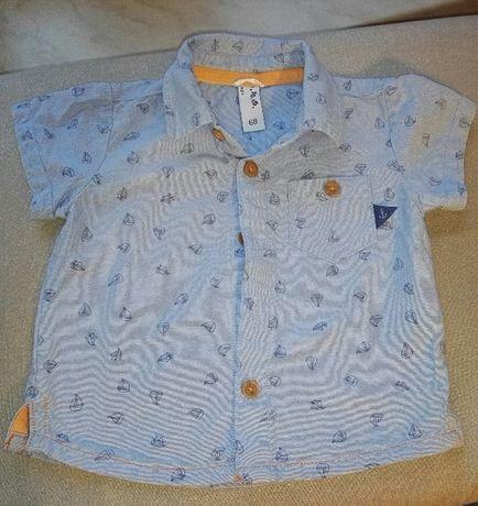 Koszula, krótki rękaw, 5 10 15, rozm 68, stan idealny, 10 zł z wysyłką