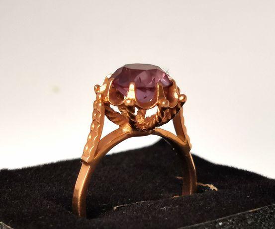 Золотое кольцо 18 размер, винтаж, шикарное