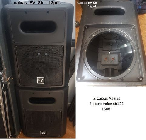Caixas De Subwoofer EV - SB 121 (ALT. DE 12)