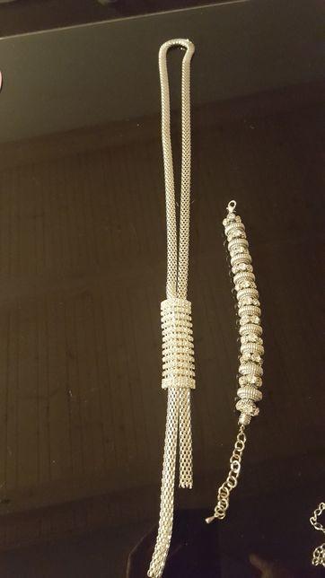Wisiorek łańcuszek ozdobny + bransoletka