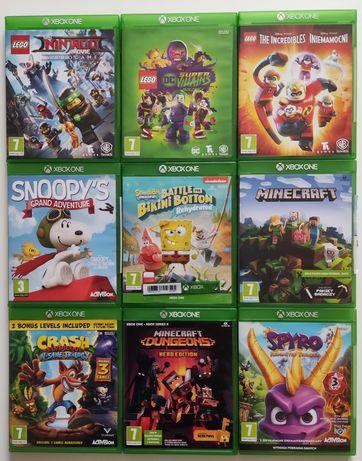 Gry Xbox one SpongeBob Minecraft Crash Spyro Minecraft LEGO Snoopy's