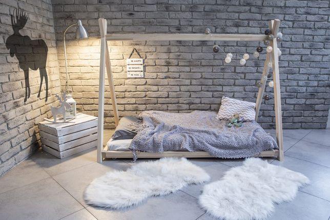 Łóżko dziecięce Domek Tipi 2 Naturalne,łóżko domek dla dzieci bepetee.