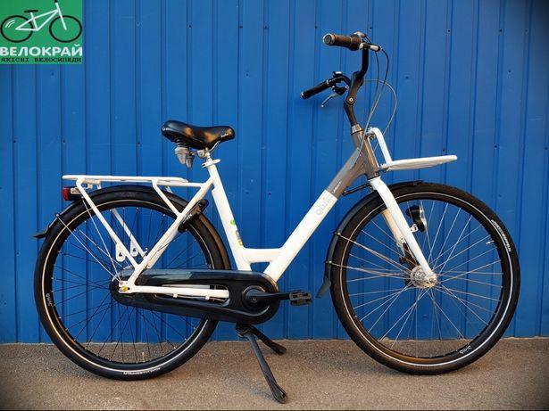 Голландський дорожній велосипед QWIC планетарка 2 багажники #Велокрай