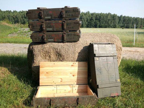 Skrzynia skrzynka wojskowa militarna drewniana solidna