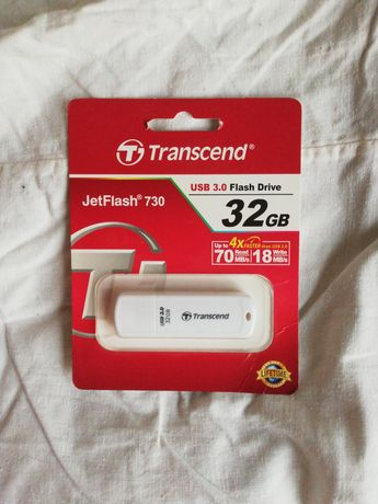 Нова Флешка USB накопичувач sd-карта Transcend 32GB jetflash 730