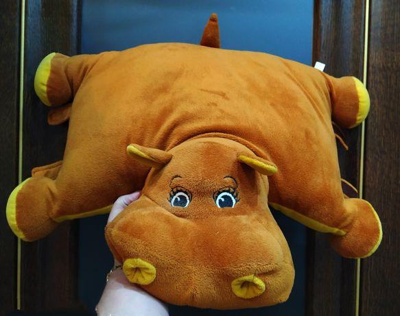 Детская подушка -игрушка Бегемотик