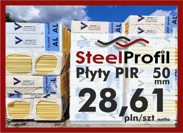 Płyty PIR poliuretan termPIR AL 50mm izolacja Płyta Izoproof XPS EPS