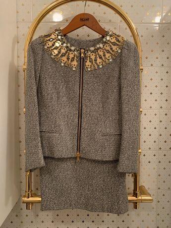 Костюм юбка пиджак Moschino(Dior Chanel )