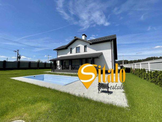 Новый дом с бассейном и ремонтом, 14 соток, с. Гора