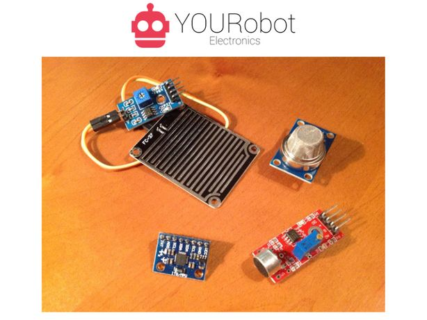 Diversos sensores NOVOS para Arduino (acelerómetro, gases, som, etc)
