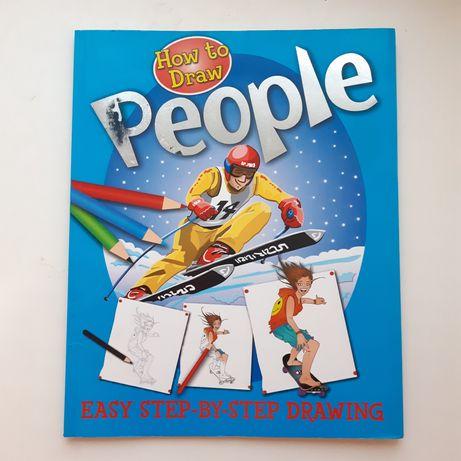 Книга на английском. How to draw people/Как рисовать людей