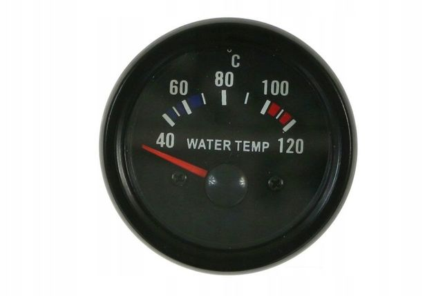 Zegar wskaźnik temperatura wody VDO look