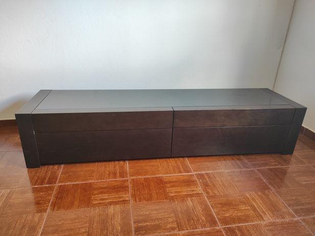 Móvel TV wengué 4 gavetas 180x47x36h
