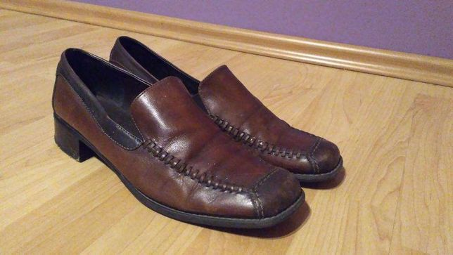 Brązowe buty r. 40 SKÓRA bardzo wygodne
