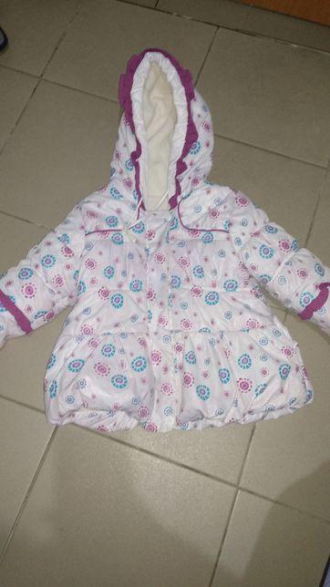 Деми курточка теплая на флисе 2.5-3.5 года